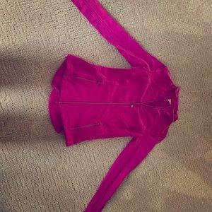 Pink lululemon zip up size 4